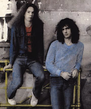 "Lyle Mays e Pat Metheny - backcover photo from ""As Falls Whichita"" - © ECM Records"